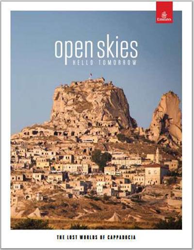 阿联酋航空航机杂志《open skies》