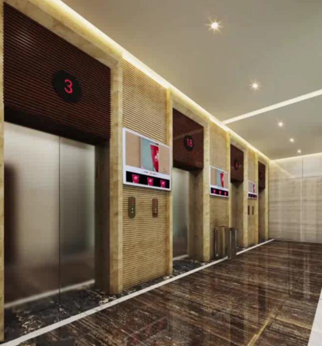 深圳电梯外框架广告