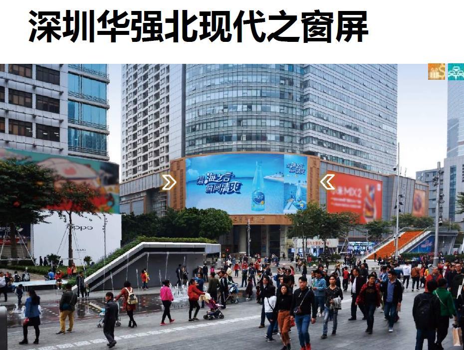 深圳华强北现代之窗LED屏广告